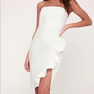 Lulus white cocktail dress